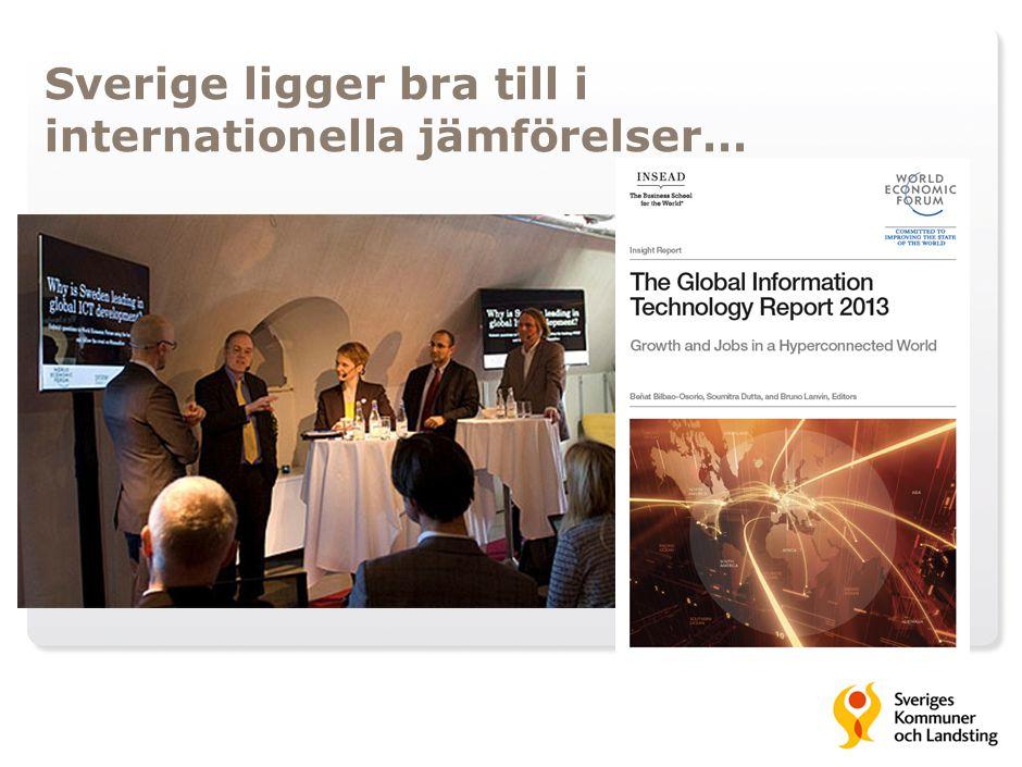 Sverige ligger bra till i internationella jämförelser…