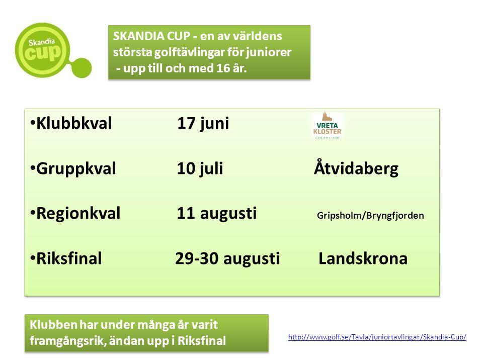 Klubbkval 17 juni Gruppkval 10 juli Åtvidaberg Regionkval 11 augusti Gripsholm/Bryngfjorden Riksfinal 29-30 augusti Landskrona Klubbkval 17 juni Grupp