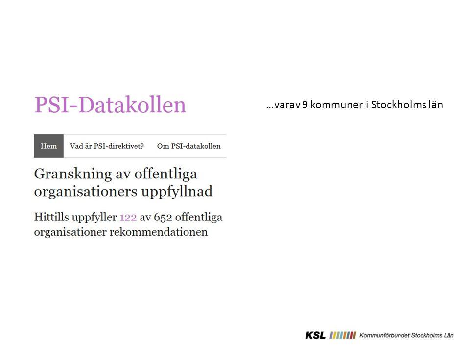 …varav 9 kommuner i Stockholms län