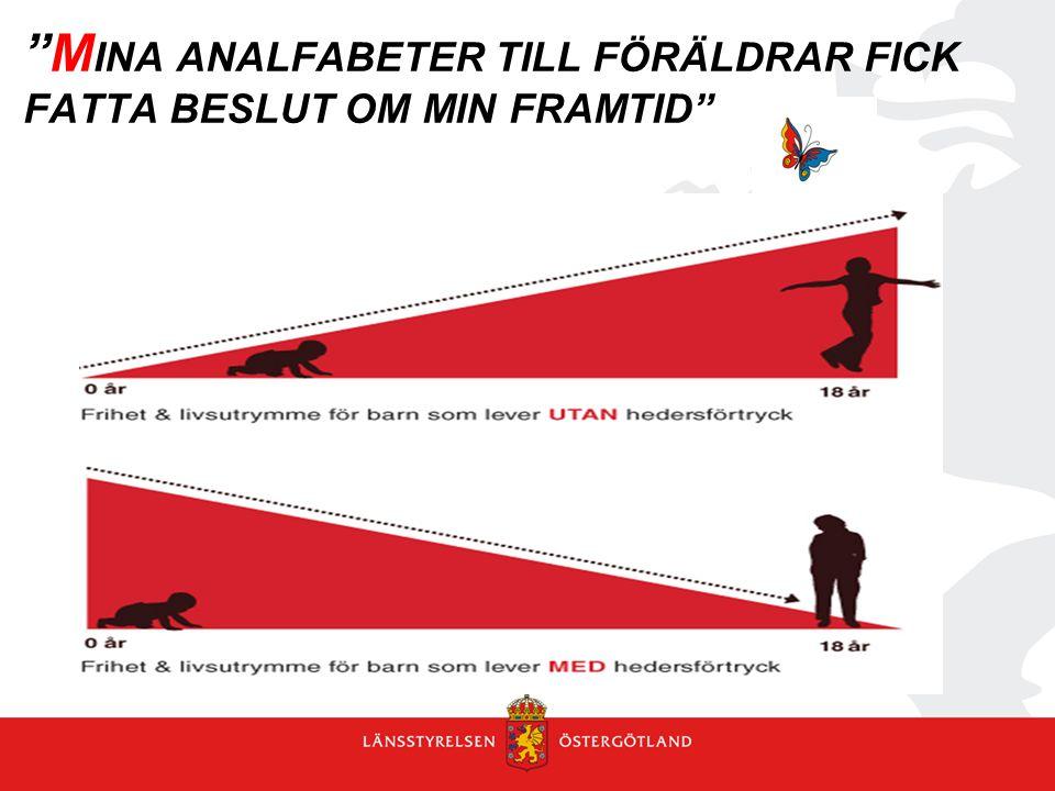 """""""M INA ANALFABETER TILL FÖRÄLDRAR FICK FATTA BESLUT OM MIN FRAMTID"""""""