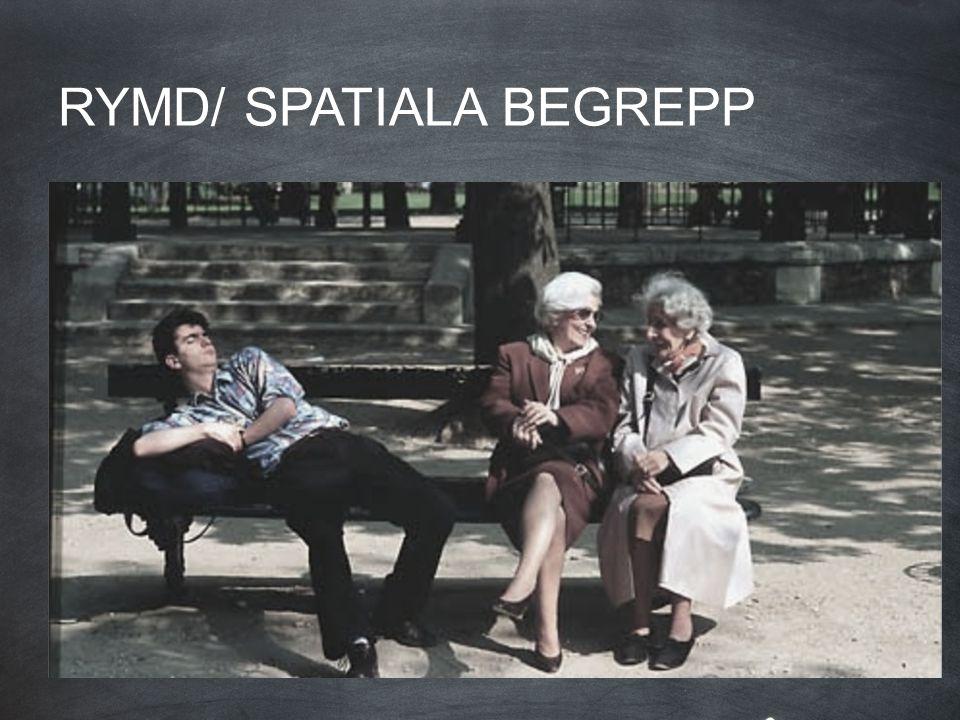RYMD/ SPATIALA BEGREPP