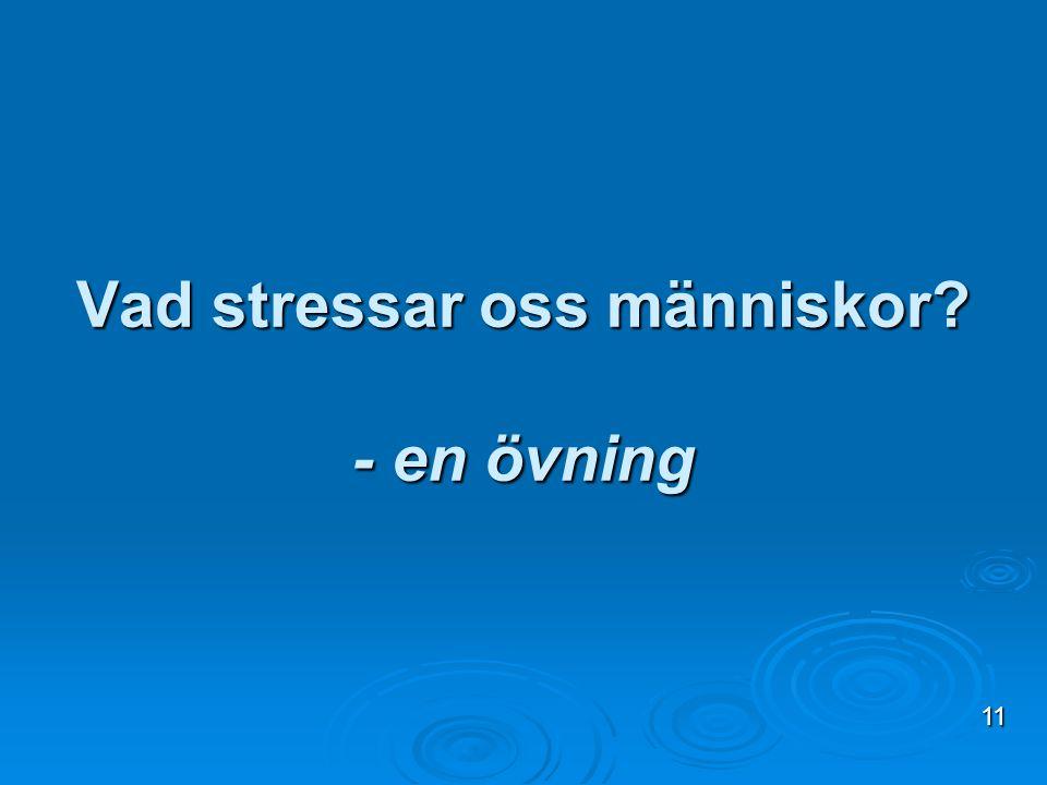 Vad stressar oss människor? - en övning 11