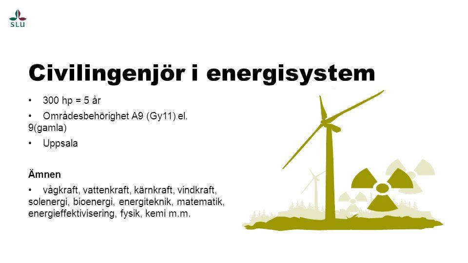300 hp = 5 år Områdesbehörighet A9 (Gy11) el.