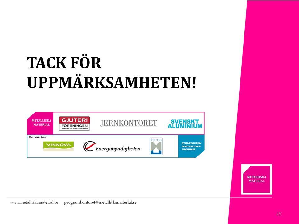 TACK FÖR UPPMÄRKSAMHETEN! 25