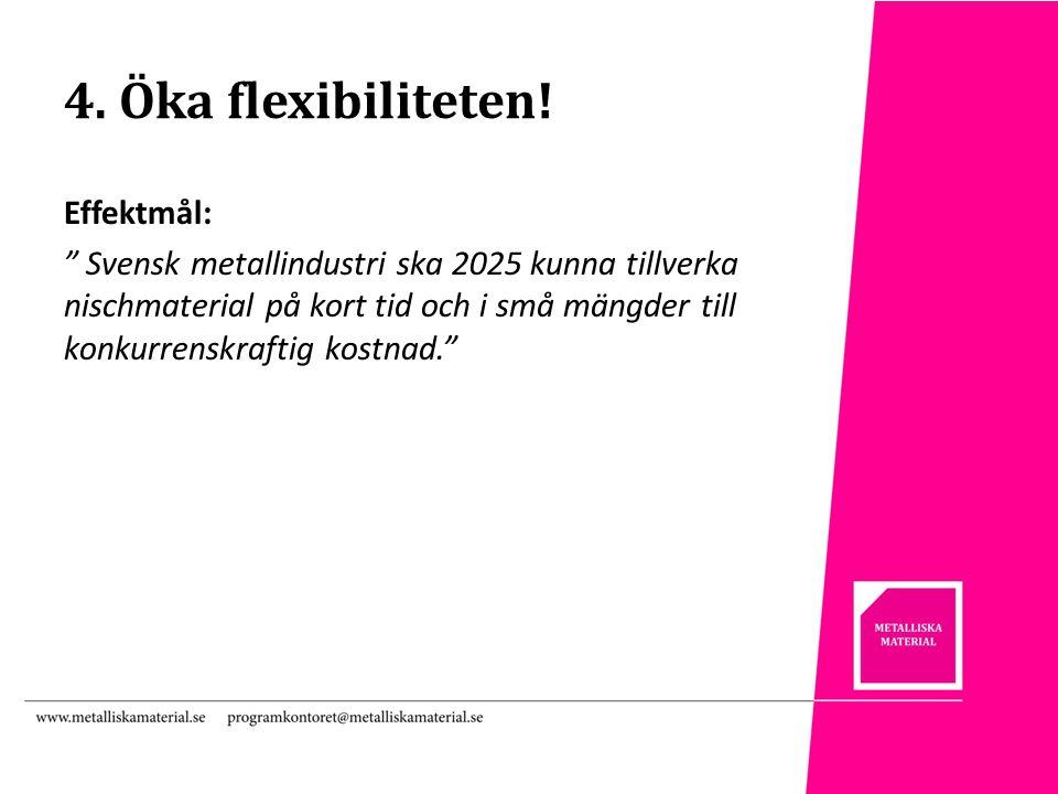 4. Öka flexibiliteten.