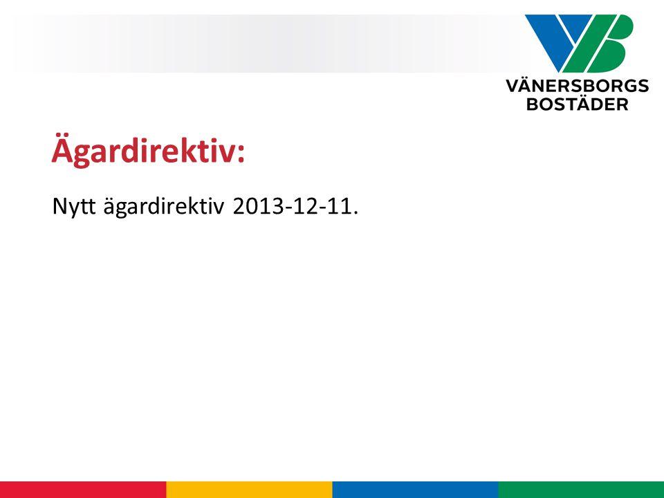 Nytt ägardirektiv 2013-12-11. Ägardirektiv: