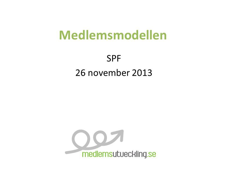 Medlemsmodellen SPF 26 november 2013