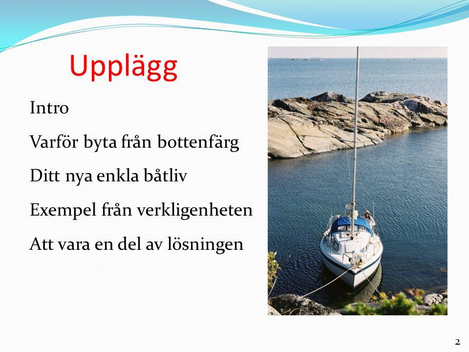 2 Upplägg Intro Varför byta från bottenfärg Ditt nya enkla båtliv Exempel från verkligenheten Att vara en del av lösningen
