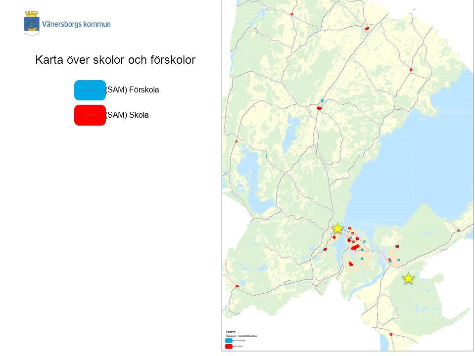 Karta över skolor och förskolor