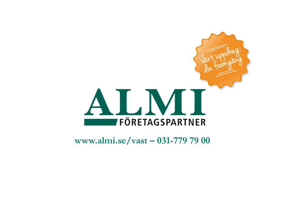 www.almi.se/vast – 031-779 79 00