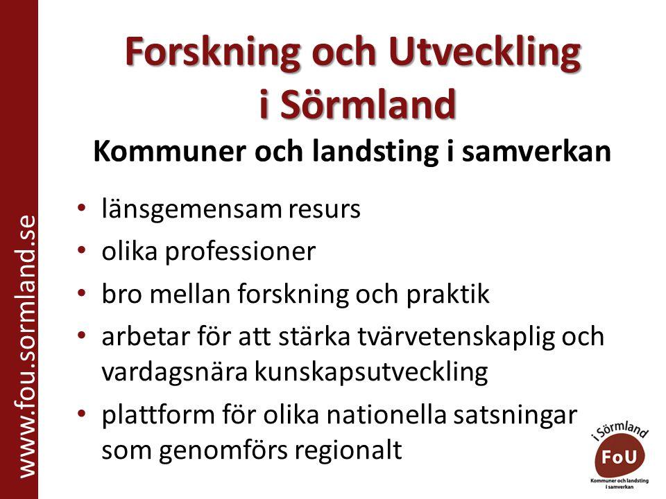 Föräldrastöd inom missbruks- och beroendevården Social barn och ungdomsvård www.fou.sormland.se