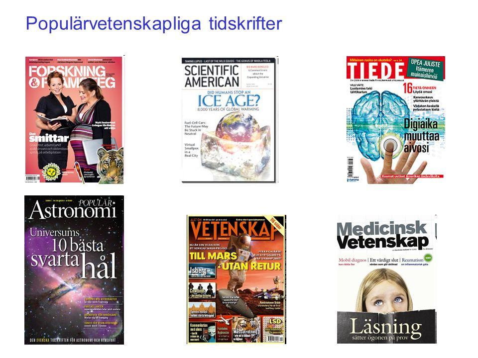 Populärvetenskapliga tidskrifter