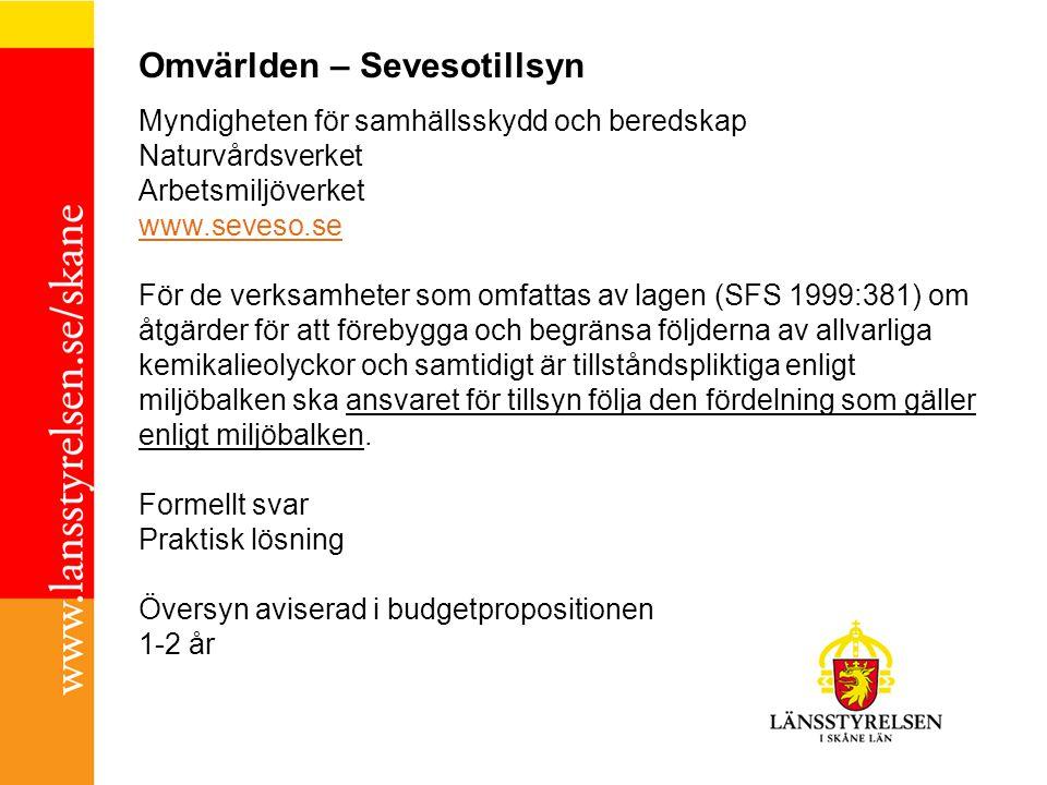 Omvärlden – JO-beslut 2010-12-10 Stadex, Seveso, Säkerhetsrapport TV4 Handlingsprogram Bilaga till bilagan Länsstyrelsens slutsats:Kräva in mer handlingar.