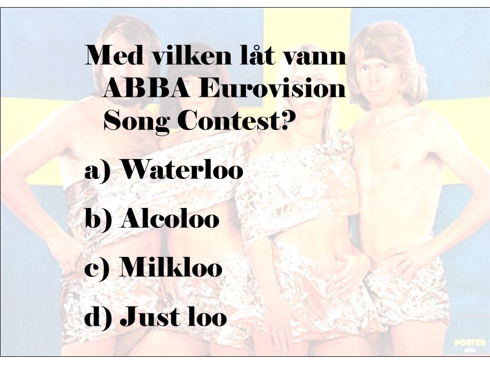 Vart riktade sig ABBAs sista turné 1980? a) Japan b) Australien c) USA d) Tyskland