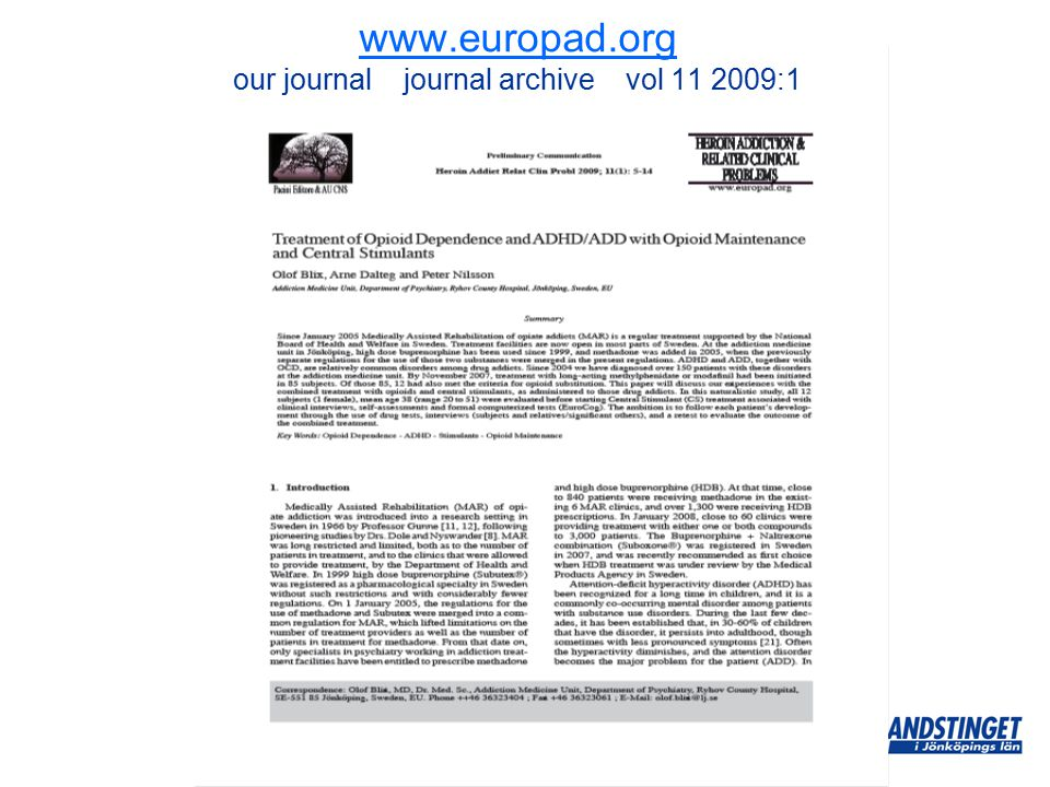 www.europad.org www.europad.org our journal journal archive vol 11 2009:1