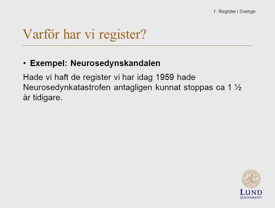 Varför har vi register.