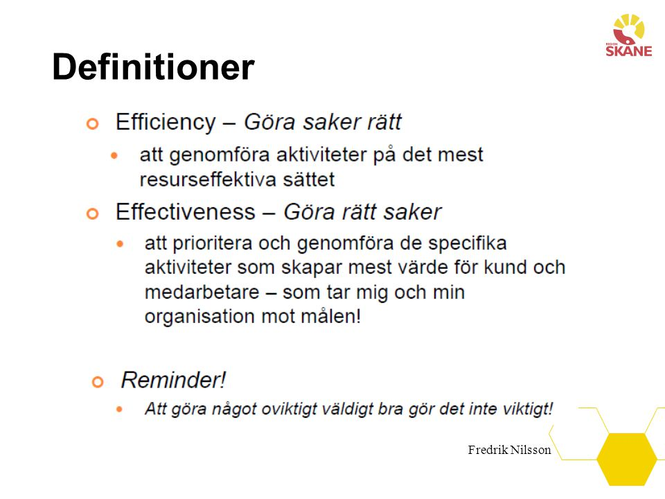Definitioner Fredrik Nilsson