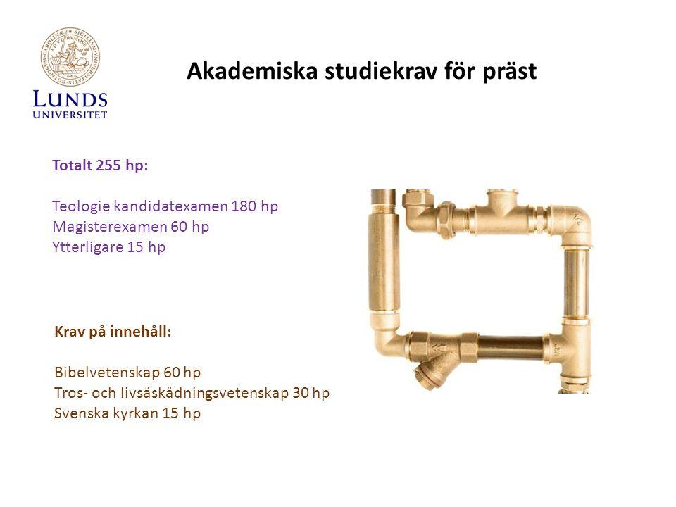 Präst – förslag till studiegångar Studievägledningens hemsida: www.teol.lu.se/student/studievagledning/ Studieplanering för blivande präster Innehåller fyra olika studieplaneringar utifrån vald huvudspecialisering.