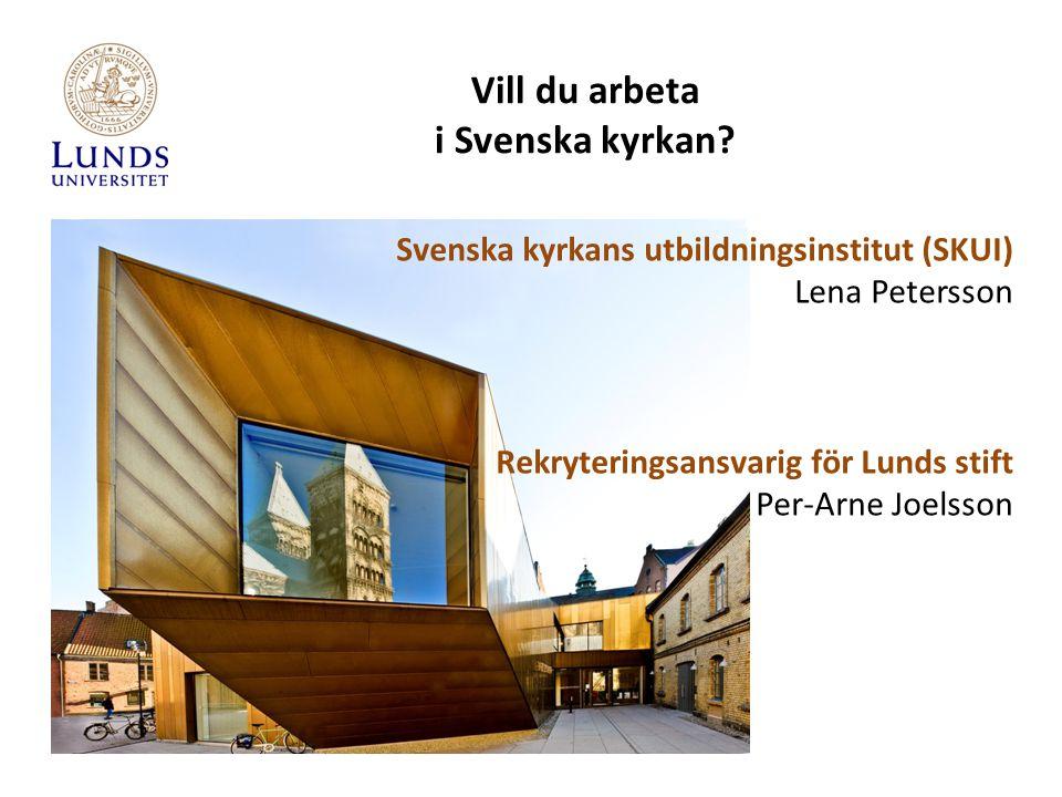 Vill du arbeta i Svenska kyrkan.