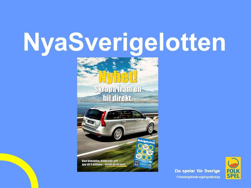 Du spelar för Sverige Föreningslivets eget spelbolag Du spelar för Sverige Föreningslivets eget spelbolag NyaSverigelotten