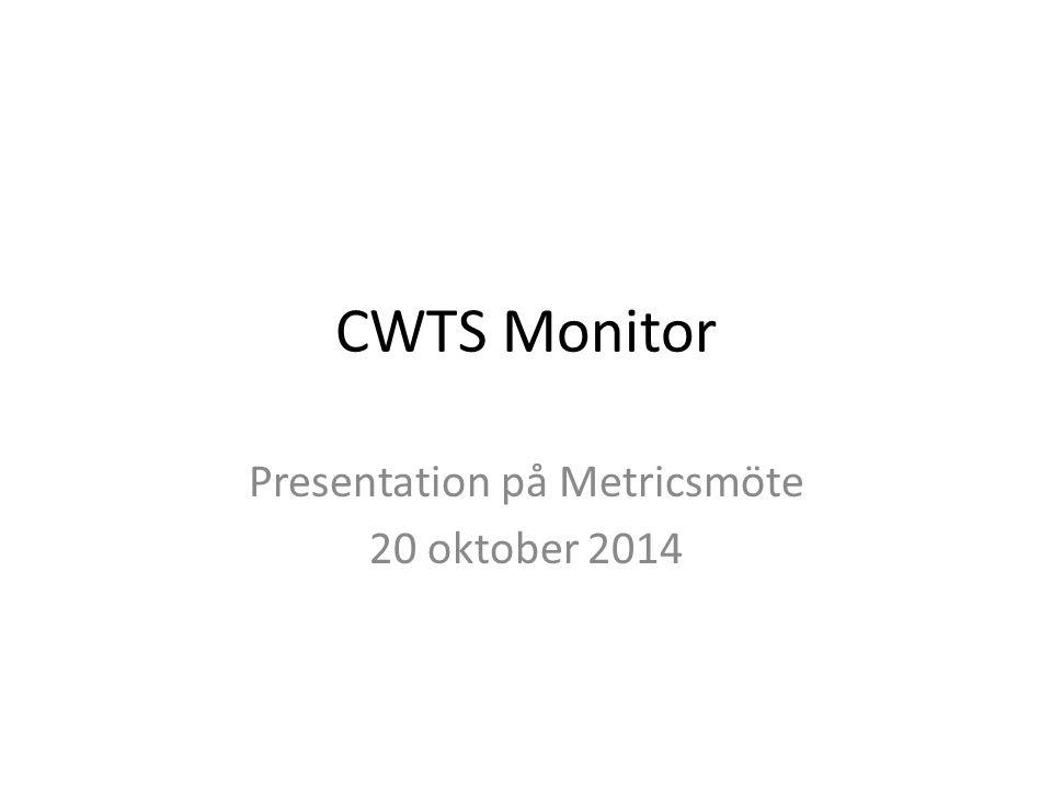 CWTS Monitor Presentation på Metricsmöte 20 oktober 2014