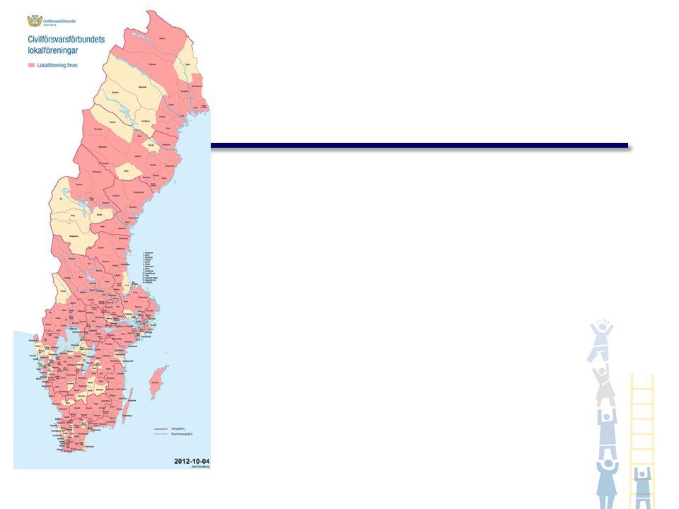 Förstärkningsresurs vid kris men även till vardags Finns i 131 kommuner (45% av Sveriges kommuner, september 2012) Civilförsvarsförbundet är navet och har utbildningsansvaret Max ger överblick över resurser 30-minutersmetoden ger möjlighet att ta hand om spontanfrivilliga.