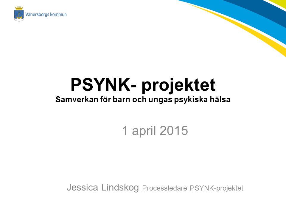 PSYNK- projektet Samverkan för barn och ungas psykiska hälsa 1 april 2015 Jessica Lindskog Processledare PSYNK-projektet