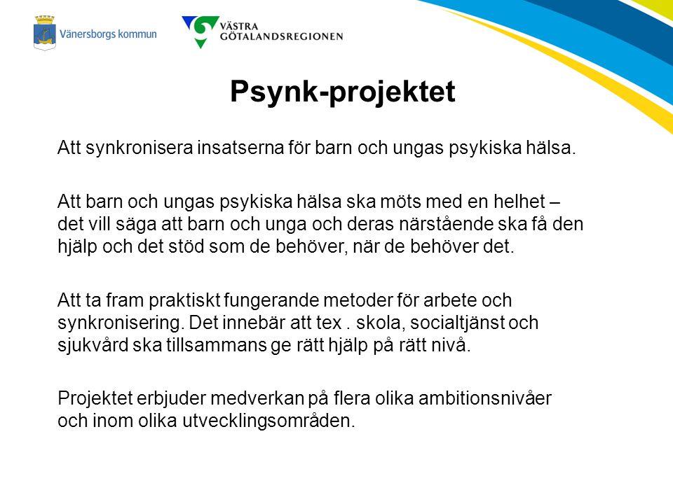 Psynk-projektet Att synkronisera insatserna för barn och ungas psykiska hälsa.
