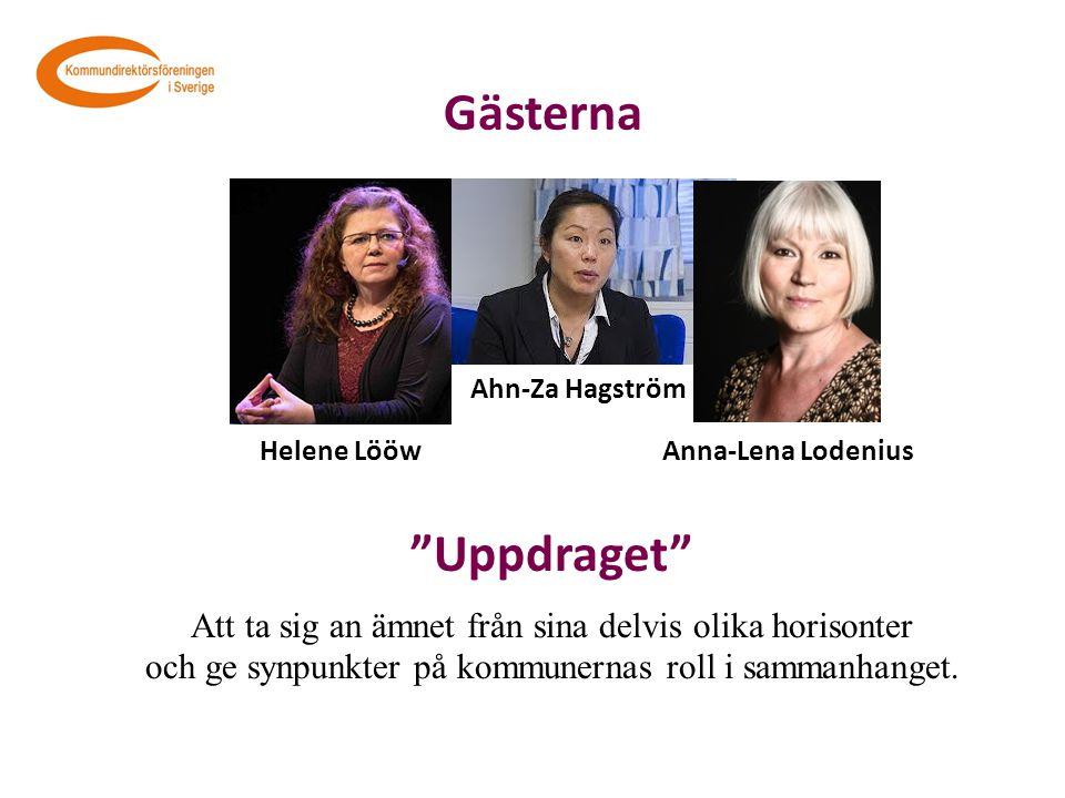 """Gästerna Ahn-Za Hagström Anna-Lena Lodenius Helene Lööw """"Uppdraget"""" Att ta sig an ämnet från sina delvis olika horisonter och ge synpunkter på kommune"""