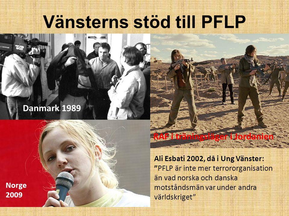 """Vänsterns stöd till PFLP Ali Esbati 2002, då i Ung Vänster: """"PFLP är inte mer terrororganisation än vad norska och danska motståndsmän var under andra"""