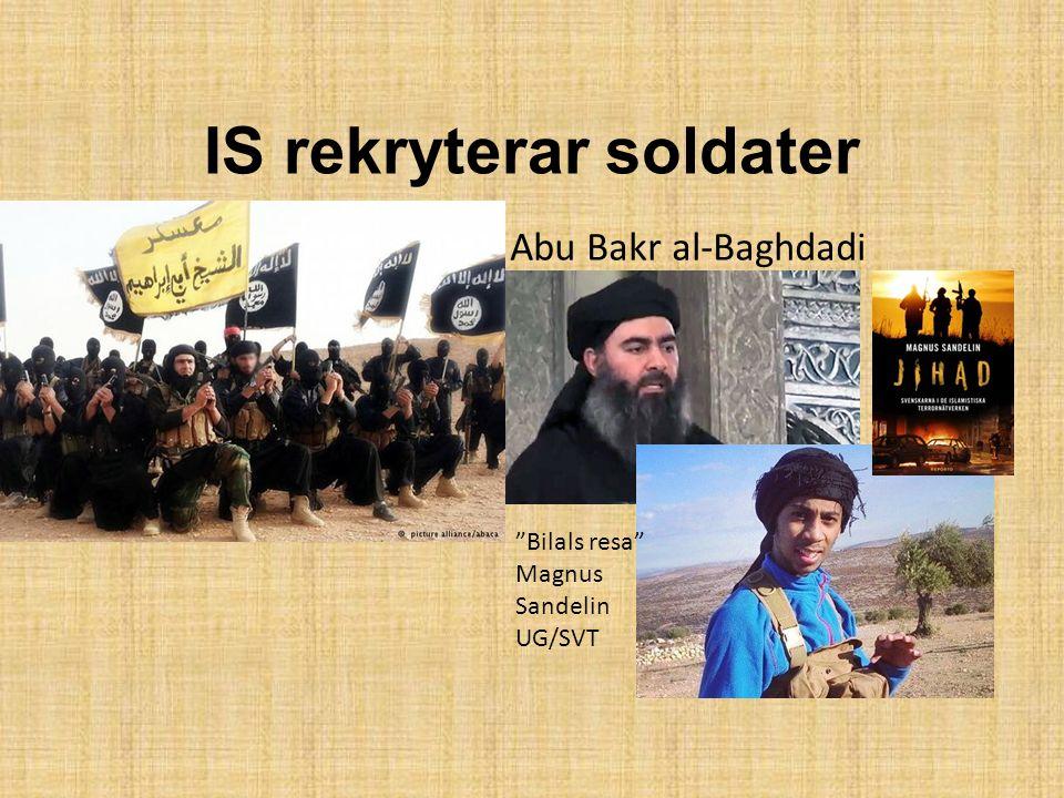 """IS rekryterar soldater Abu Bakr al-Baghdadi """"Bilals resa"""" Magnus Sandelin UG/SVT"""