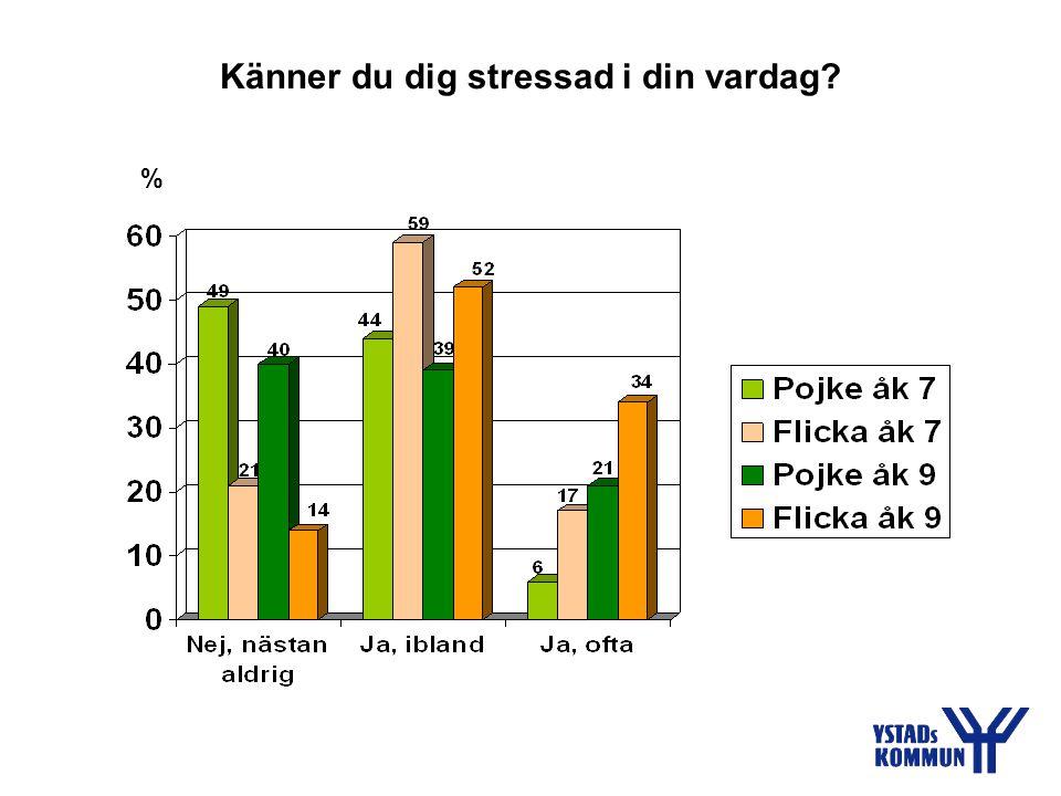 Känner du dig stressad i din vardag? %