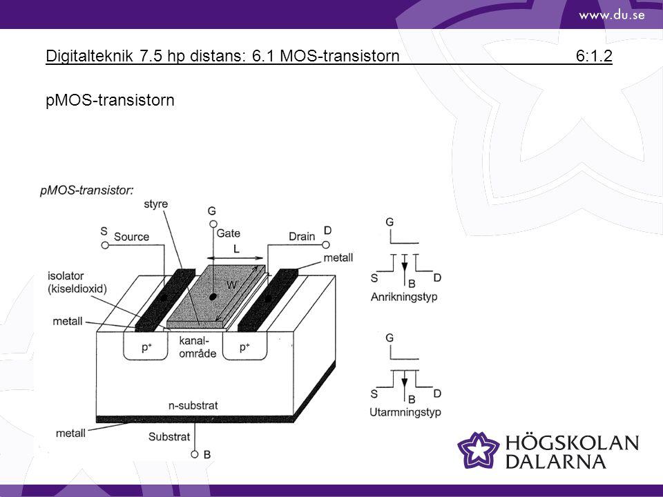 Digitalteknik 7.5 hp distans: 6.1 MOS-transistorn6:1.3