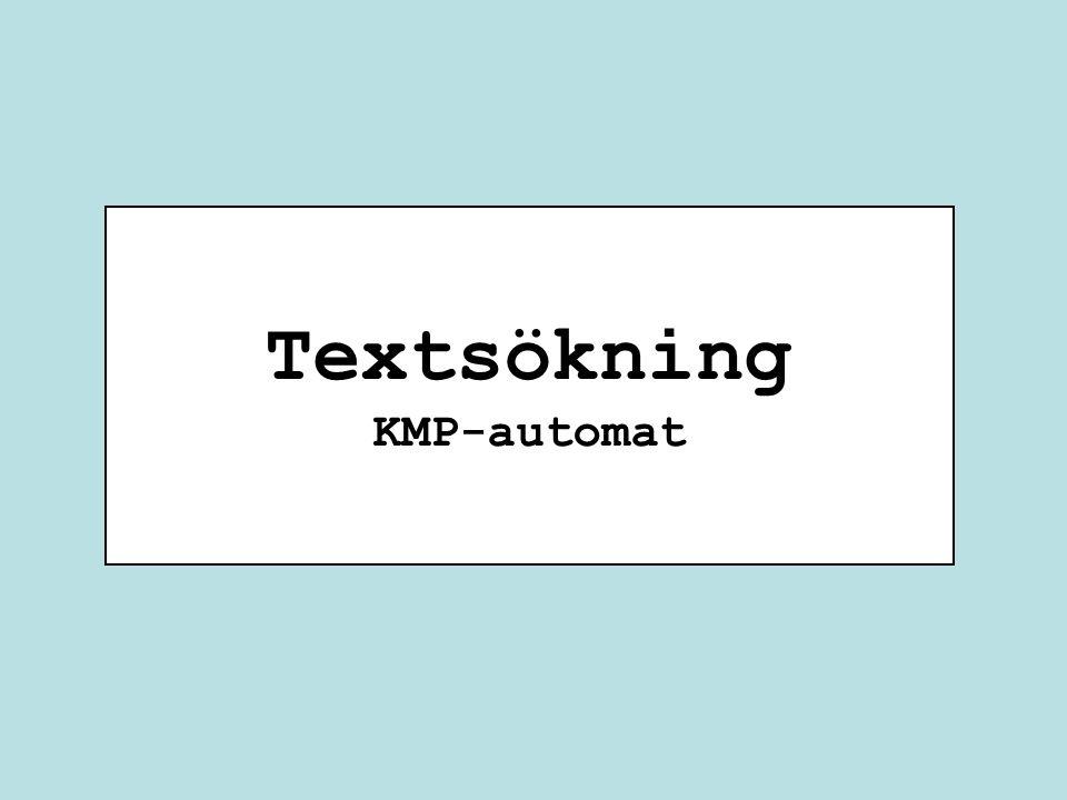Textsökning KMP-automat
