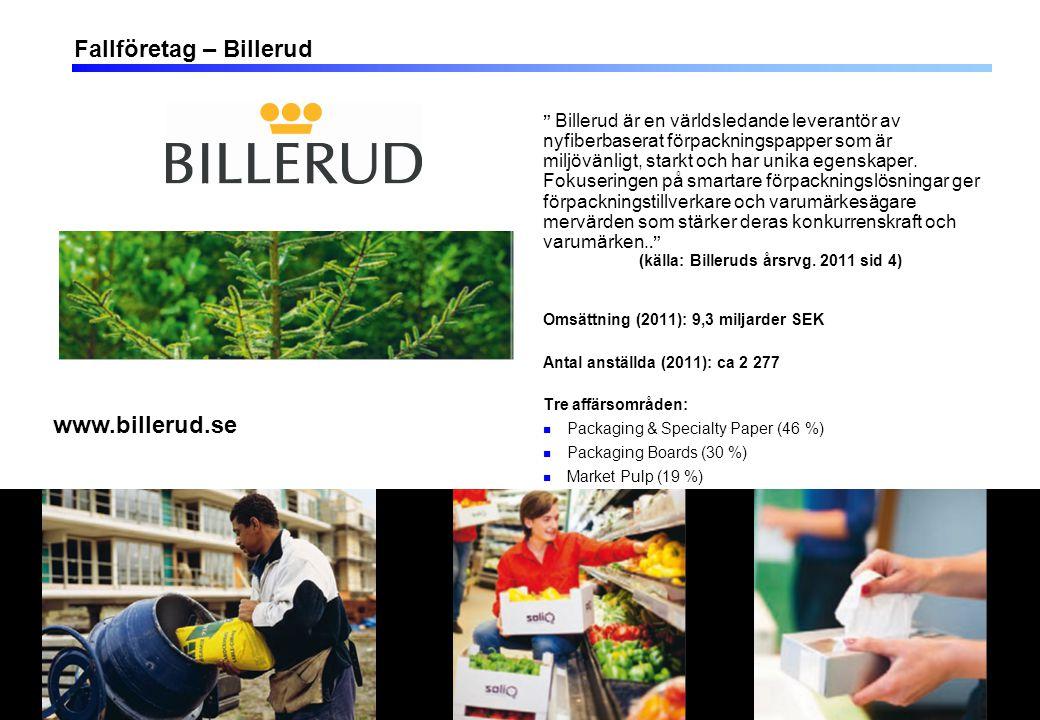 13 Fallföretag – Billerud Billerud är en världsledande leverantör av nyfiberbaserat förpackningspapper som är miljövänligt, starkt och har unika egenskaper.