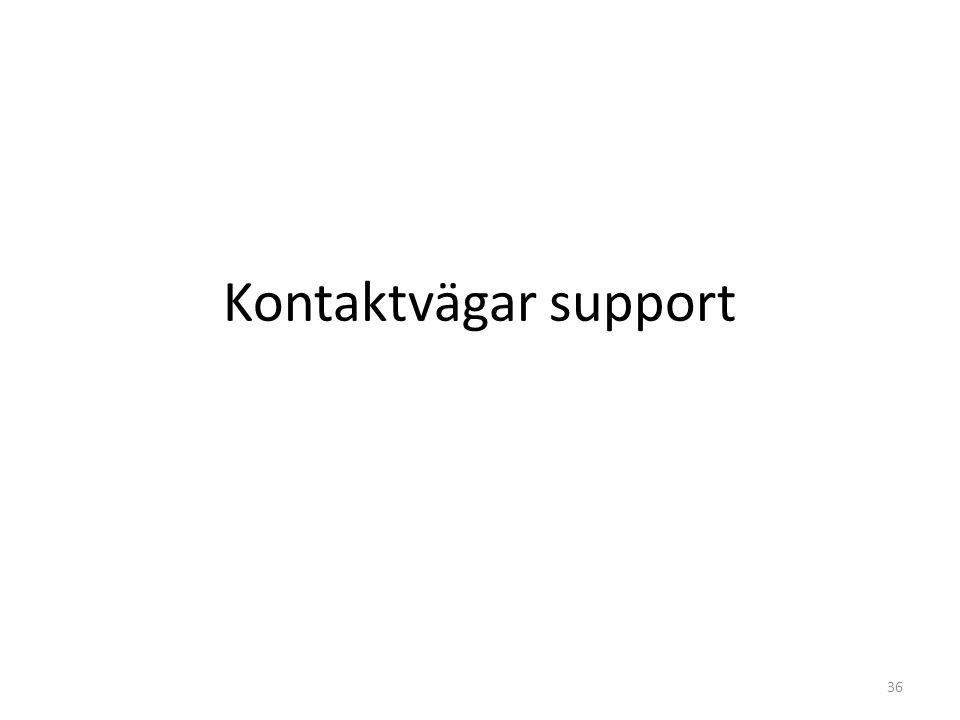 Kontaktvägar support 36