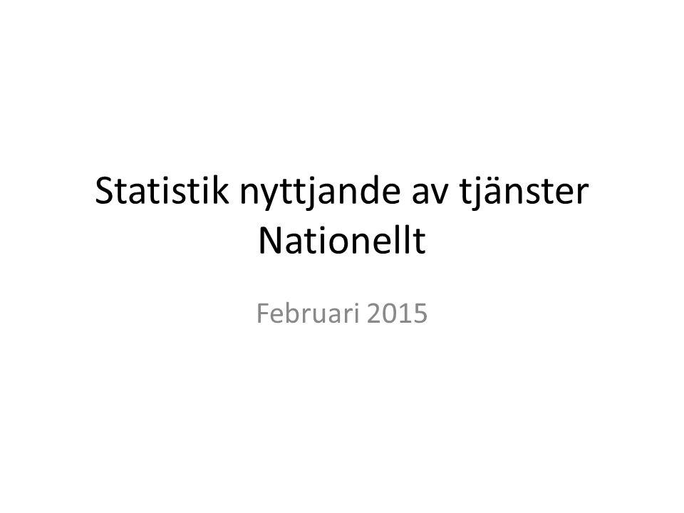 Statistik nyttjande av tjänster Nationellt Februari 2015