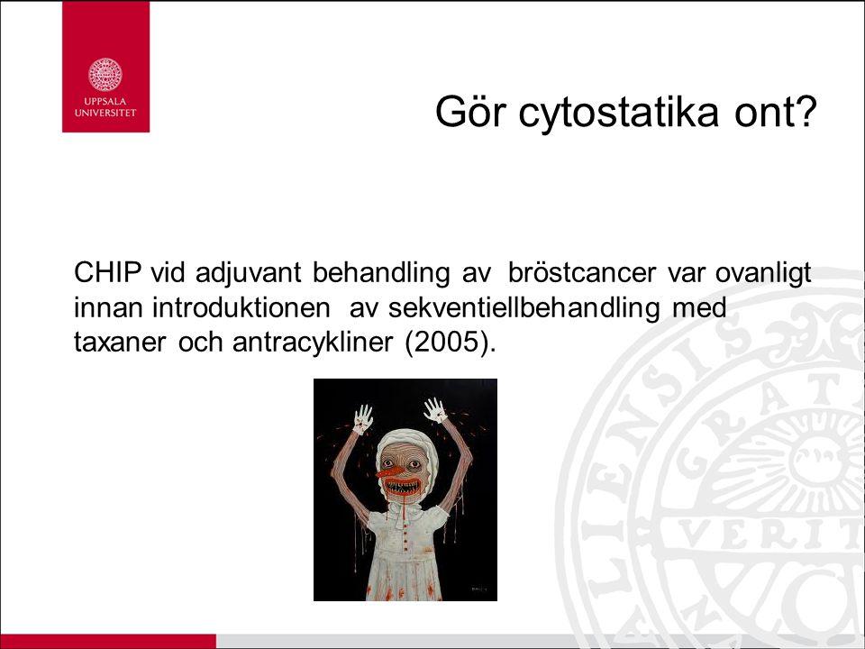 Gör cytostatika ont? CHIP vid adjuvant behandling av bröstcancer var ovanligt innan introduktionen av sekventiellbehandling med taxaner och antracykli