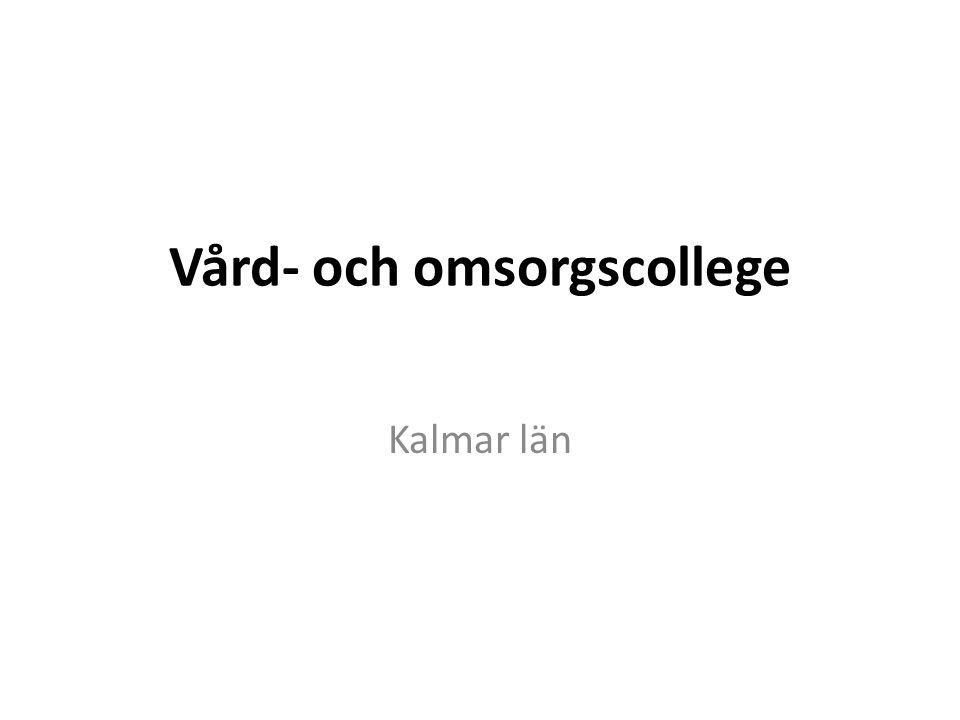 Vård- och omsorgscollege Kalmar län