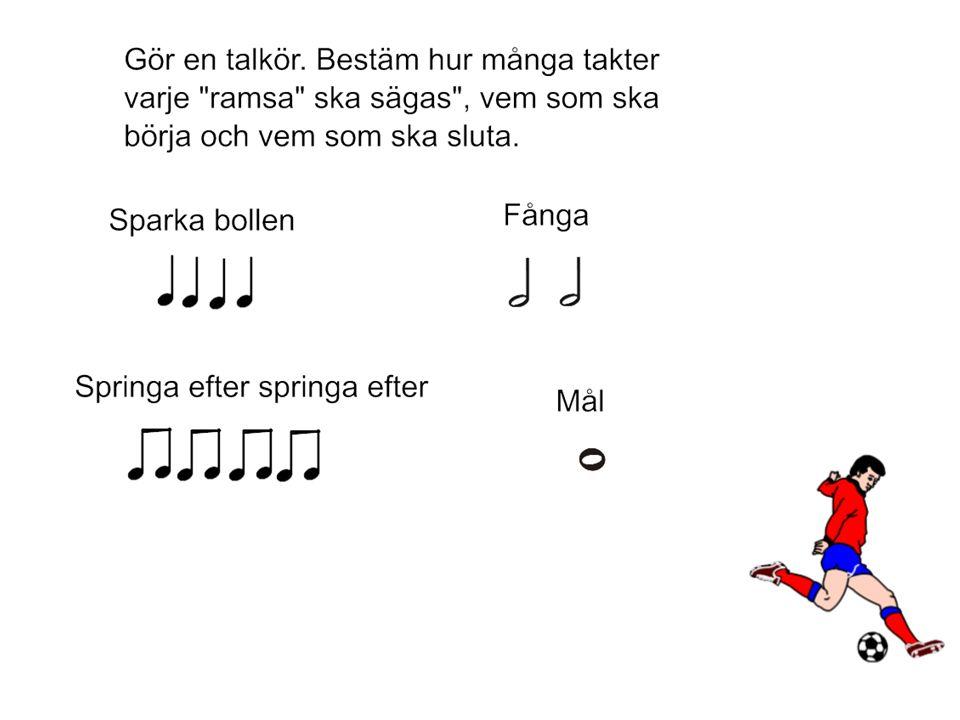 Så här skriver man ned rytmen man klappar till Cup song.