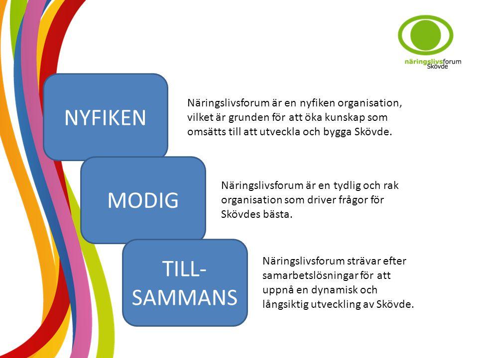 NYFIKEN MODIG TILL- SAMMANS Näringslivsforum är en nyfiken organisation, vilket är grunden för att öka kunskap som omsätts till att utveckla och bygga Skövde.