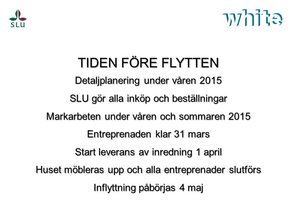 TIDPLAN Bakgrund och planering Uadm med IT i spetsen kommer flytta in i Ulls hus först, därefter flyttar institutionerna in.