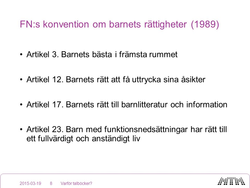Äppelhylla 2015-03-19Varför talböcker?19