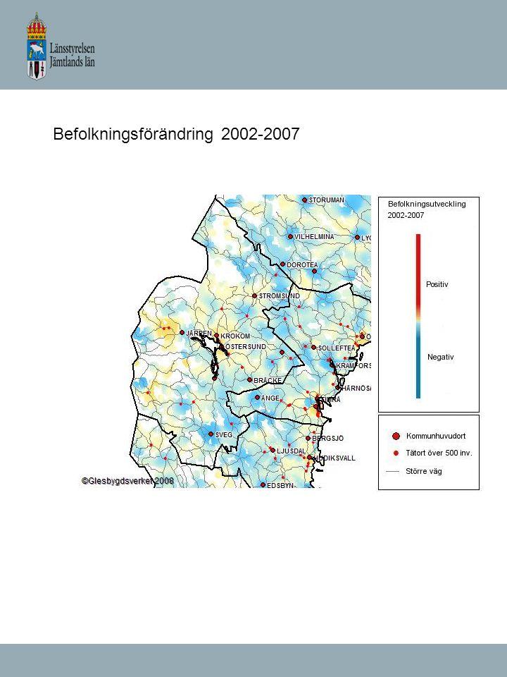 Befolkningsförändring 2002-2007