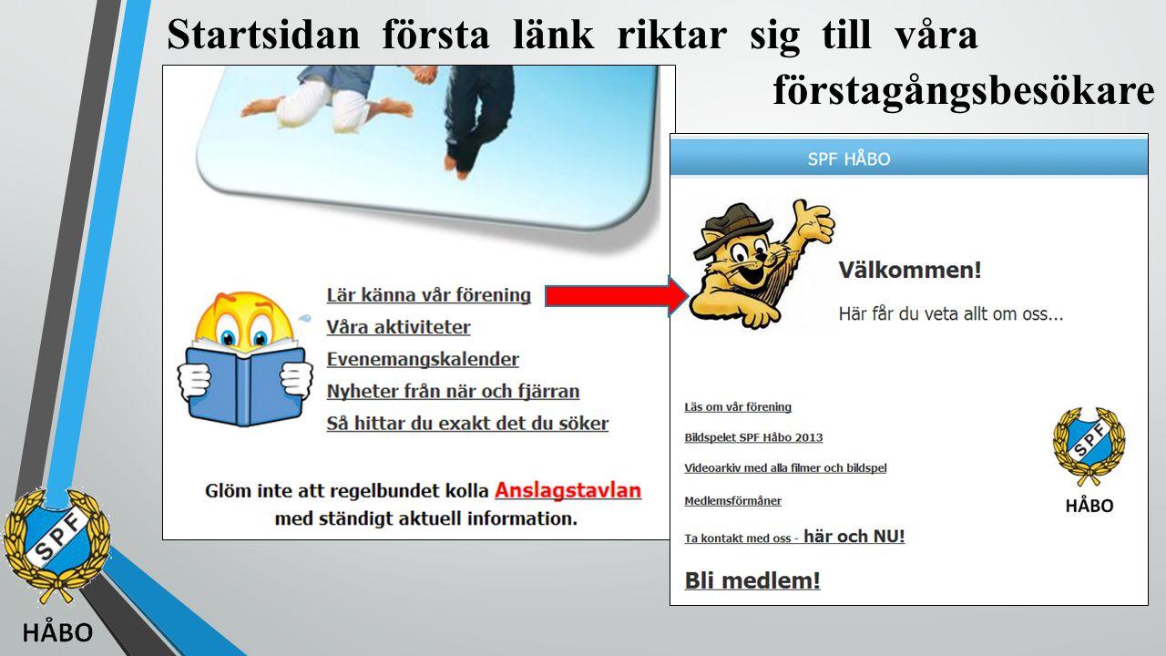 Nu ska vi gå online och bläddra lite i SPF Håbo hemsida Härifrån ska vi också starta vårt bildspel, som är en annan komponent i vår marknadsföring