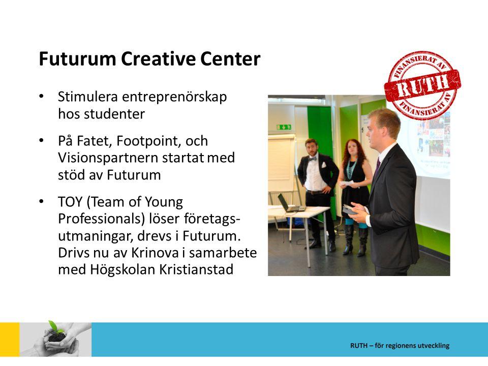 Futurum Creative Center Stimulera entreprenörskap hos studenter På Fatet, Footpoint, och Visionspartnern startat med stöd av Futurum TOY (Team of Youn