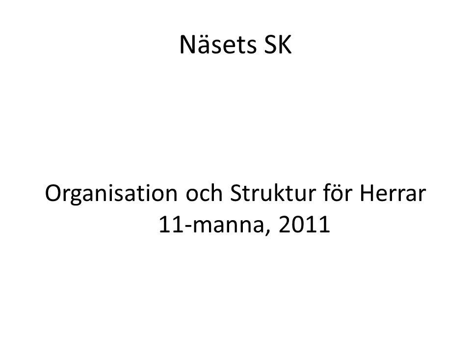 Näsets SK Organisation och Struktur för Herrar 11-manna, 2011