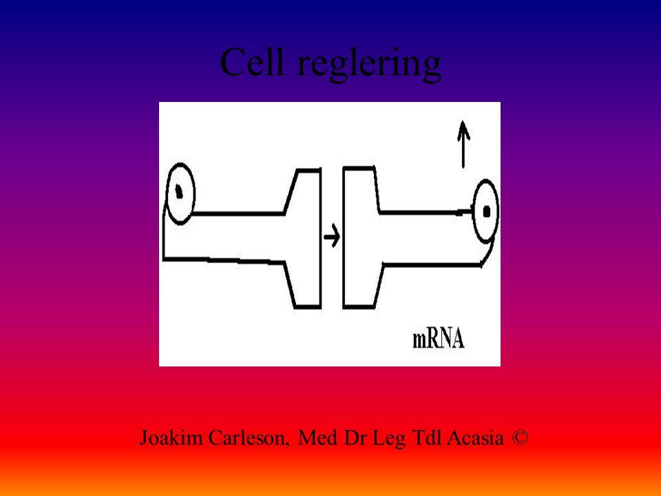 Cell reglering Joakim Carleson, Med Dr Leg Tdl Acasia ©