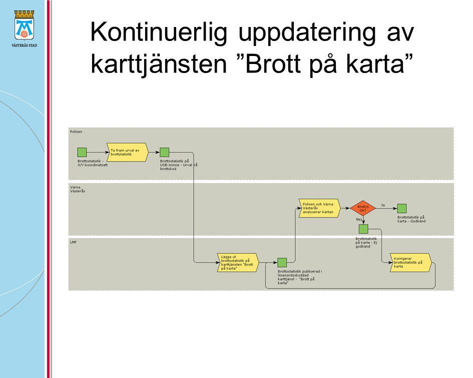 """Kontinuerlig uppdatering av karttjänsten """"Brott på karta"""""""