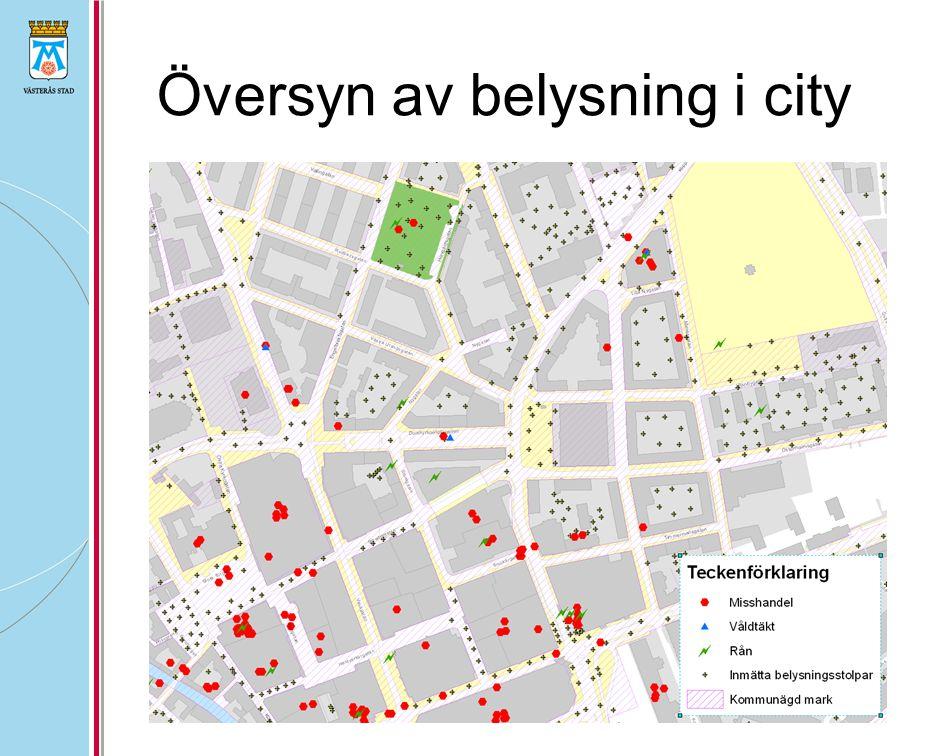 Översyn av belysning i city